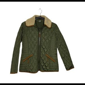 Jockey Equestrian Inspired Quilted Faux Suede Accented Jacket. NWOT.